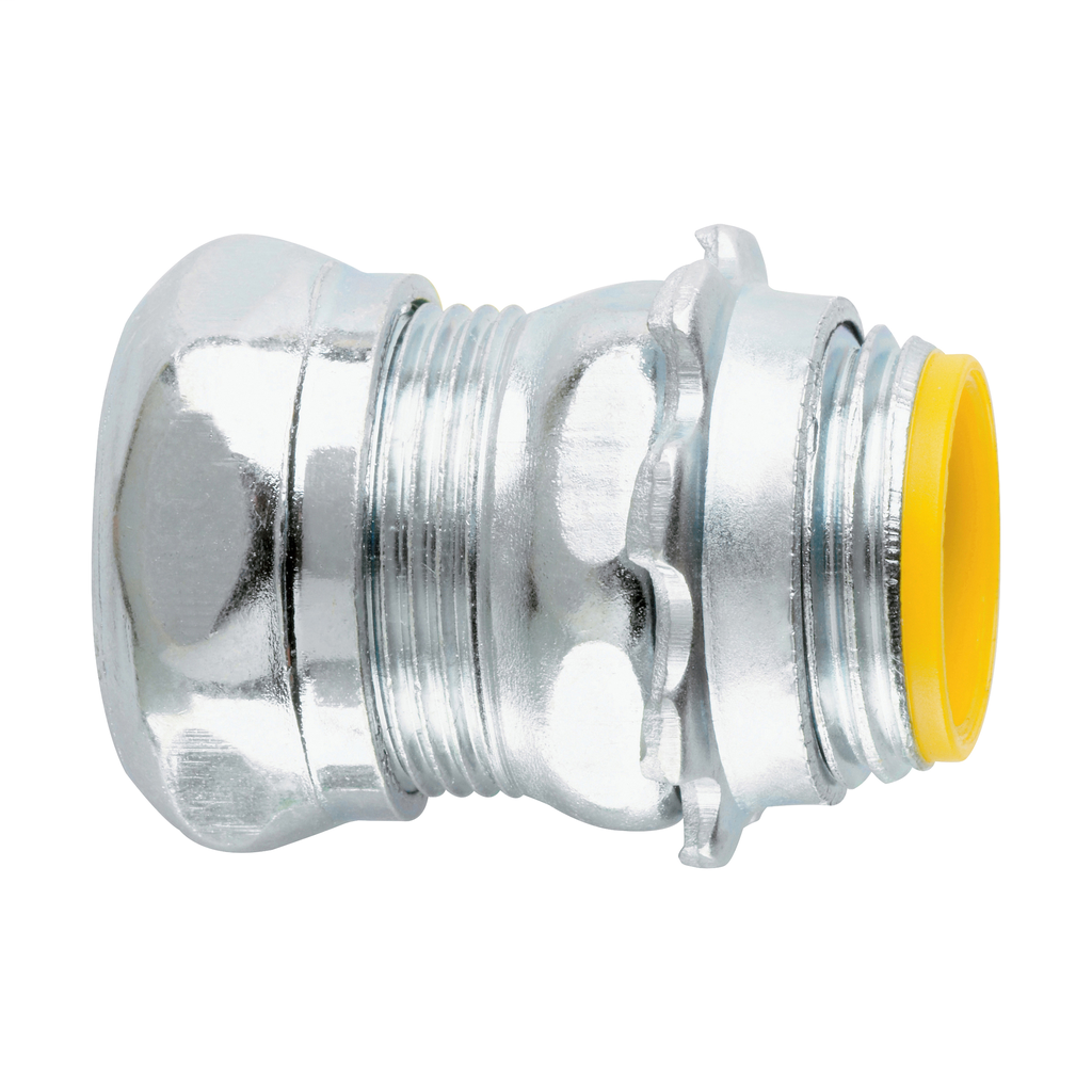 Crouse-Hinds Series 1656 2-1/2 Inch Steel Insulated Compression Straight EMT Connector