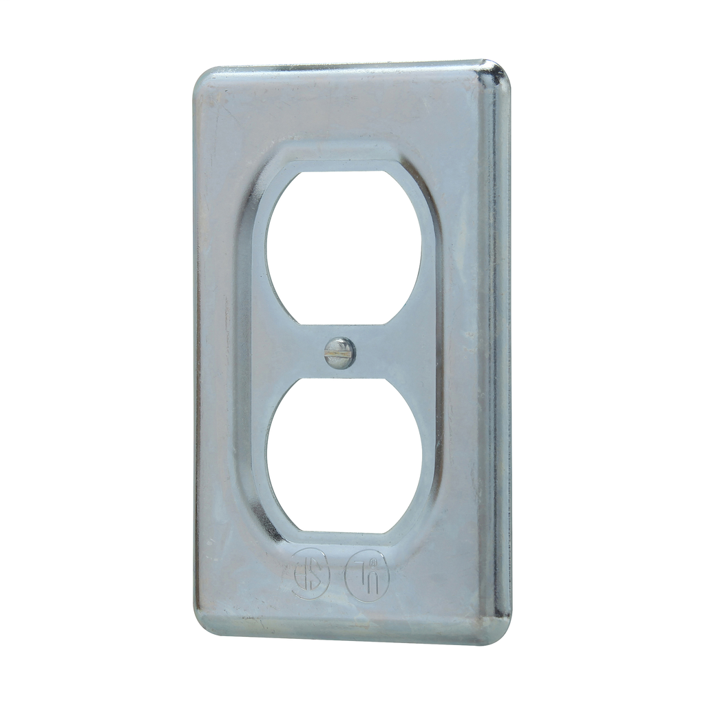 Crouse-Hinds Series DS23 1-Gang Sheet Steel Surface Mount Duplex Receptacle Cover