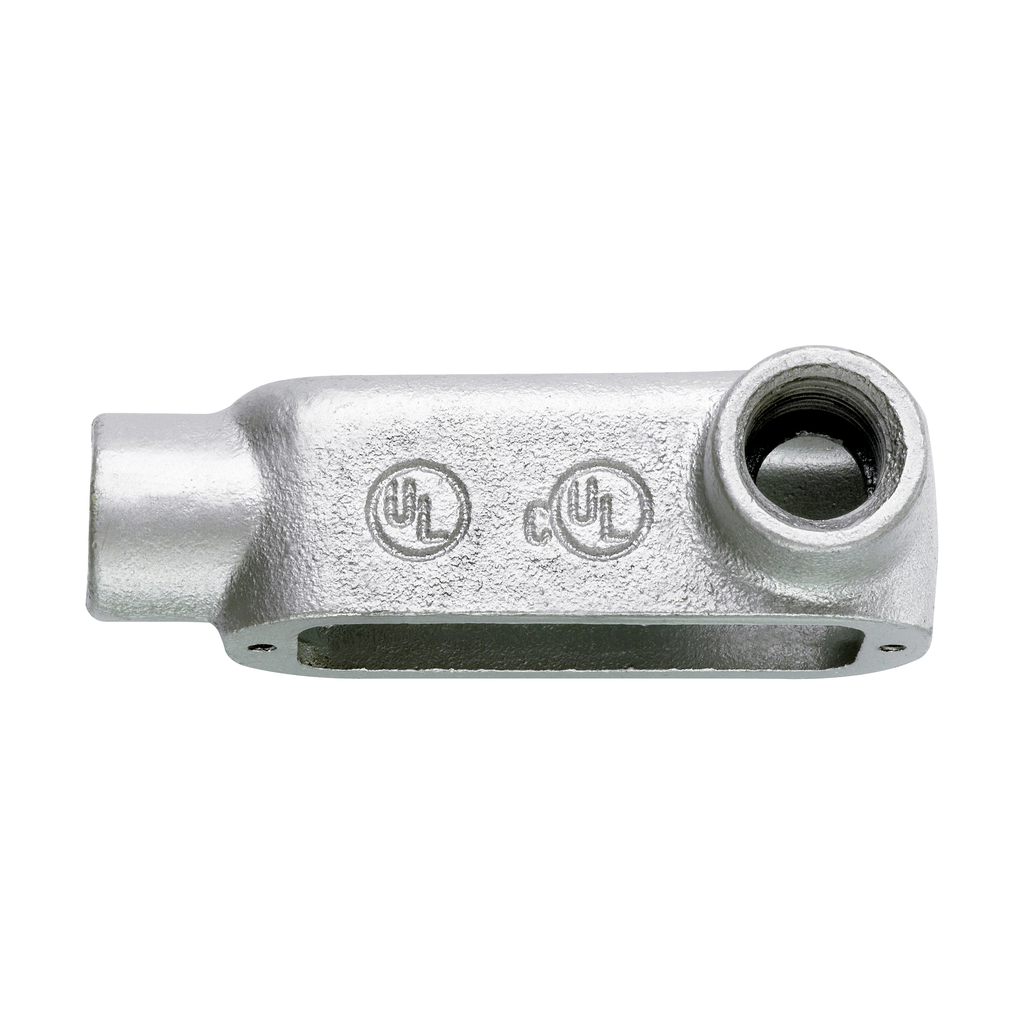 Crouse-Hinds Series LR300M 3 Inch Malleable Iron Form5 Type LR Threaded Rigid Conduit Body