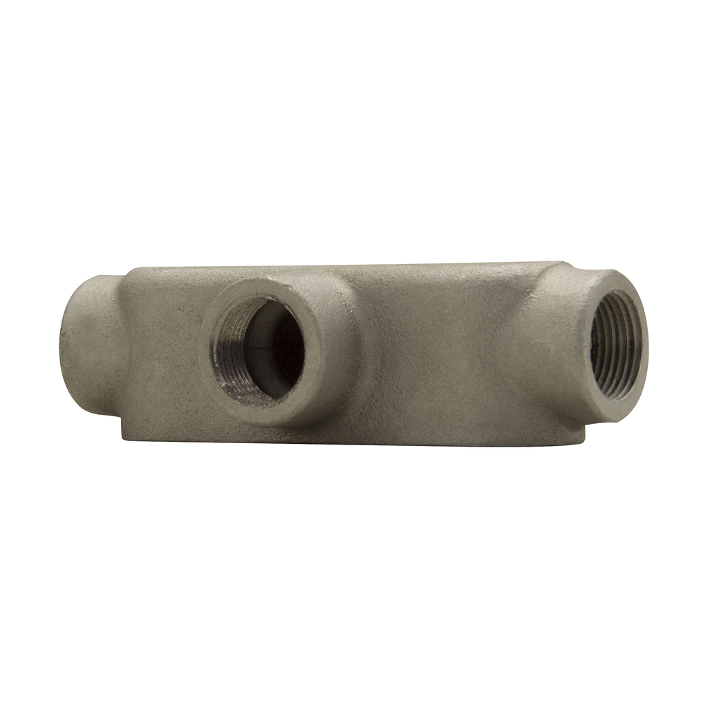 Crouse-Hinds Series T19 1/2 Inch Copper Free Aluminum Mark9 Type T Threaded Rigid Conduit Body