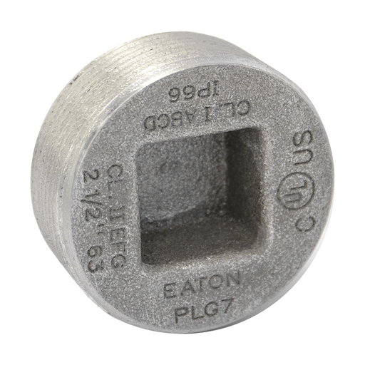 Crouse Hinds PLG4 1-1/4 Inch Recessed Head Threaded Plug For Hub Or Knockout Iron Alloy Fitting