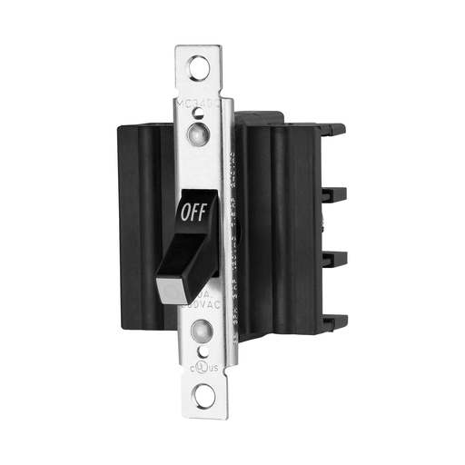 Maintained, Glass-filled nylon, Three-pole, Three-phase, Three-pole, three-phase, Side wired screw and clamp, Single-throw, 600 Vac, #14-8 AWG, Side