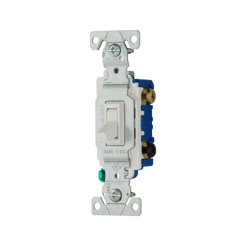 Toggle Switch (EAT 1303-7W 15A 3-WAY SWITCH WHITE)