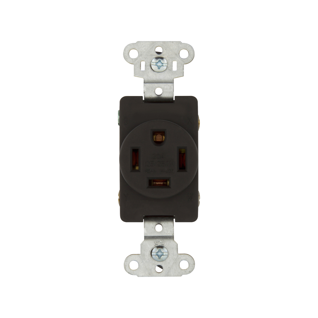 EWD 5759 Recp Sgl Flush 20A 125/250