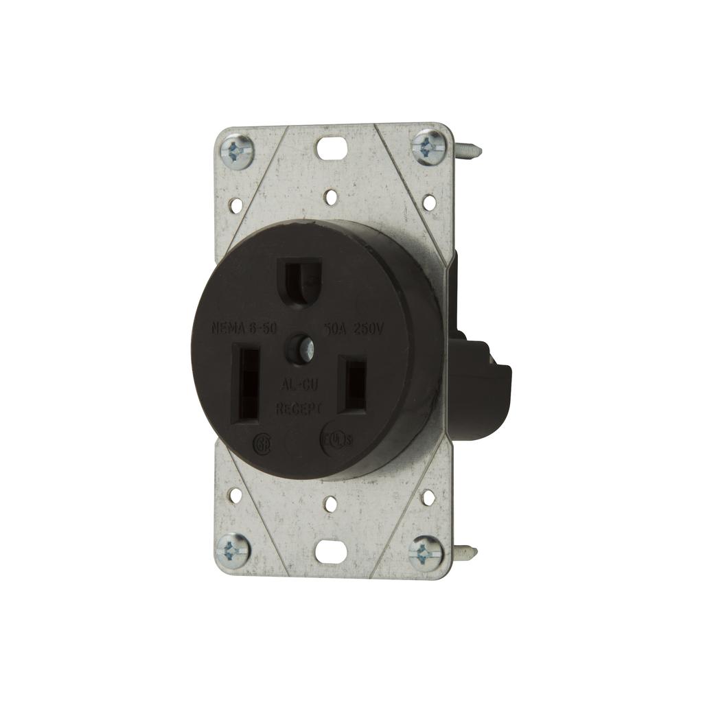 EWD 5709N Recp Single Flush 50A 250