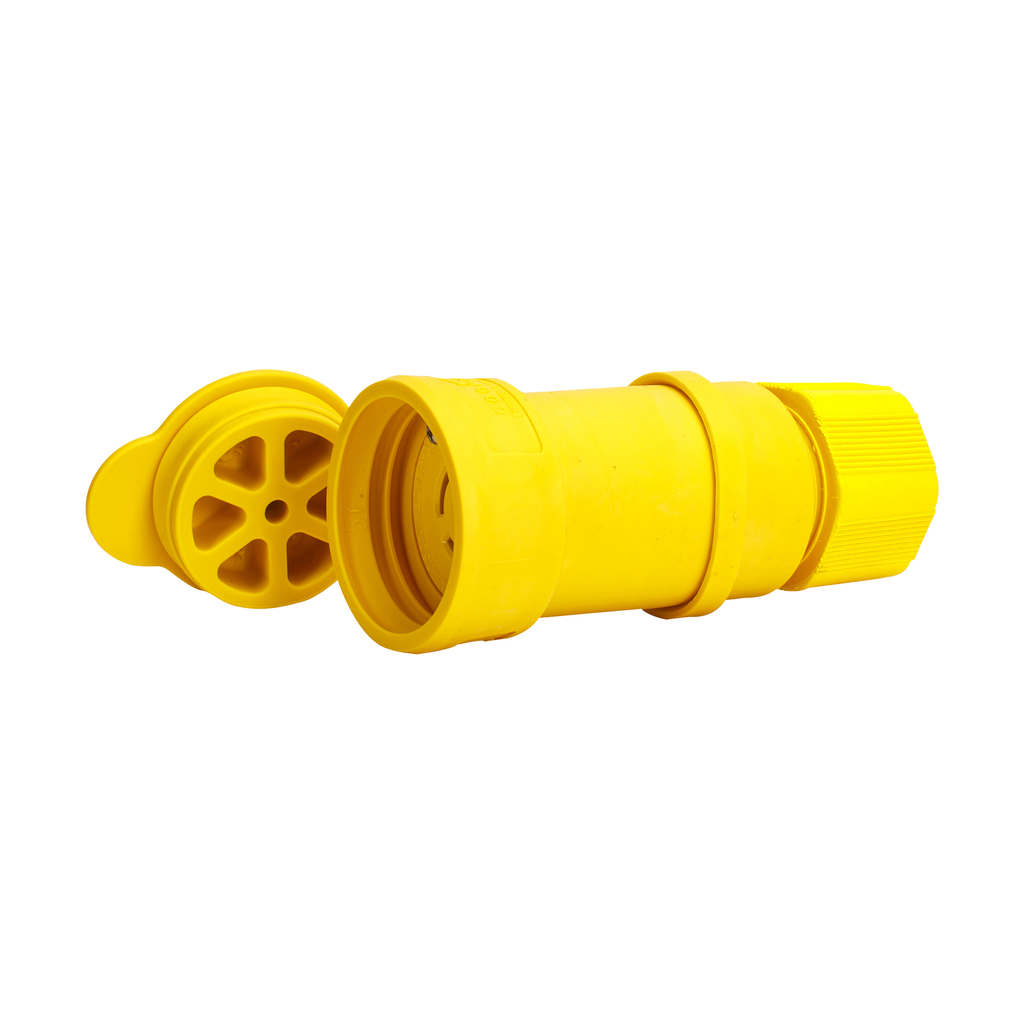 Arrow Hart Wiring L1520CW 20 Amp 250 VAC 3-Phase 3-Pole 4-Wire NEMA L15-20R Yellow Watertight Locking Connector