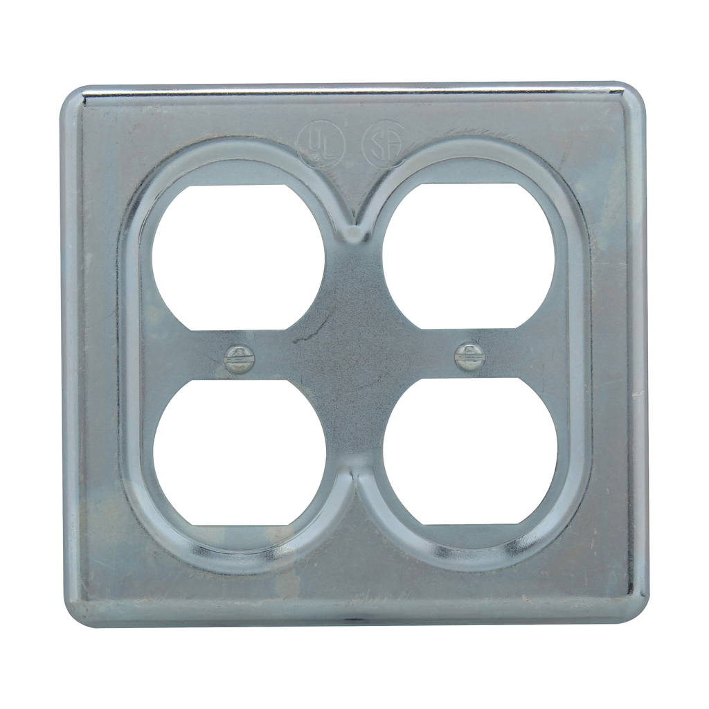CROUSE-H S232 2GANG DUPLEX RECEPTACLE FS COVER STEEL