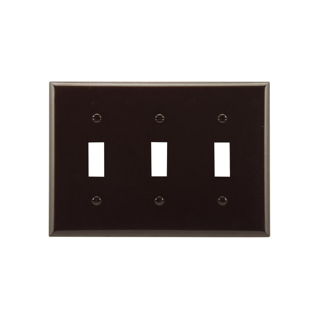 EWD 2141B-BOX Wallplate 3G Toggle T