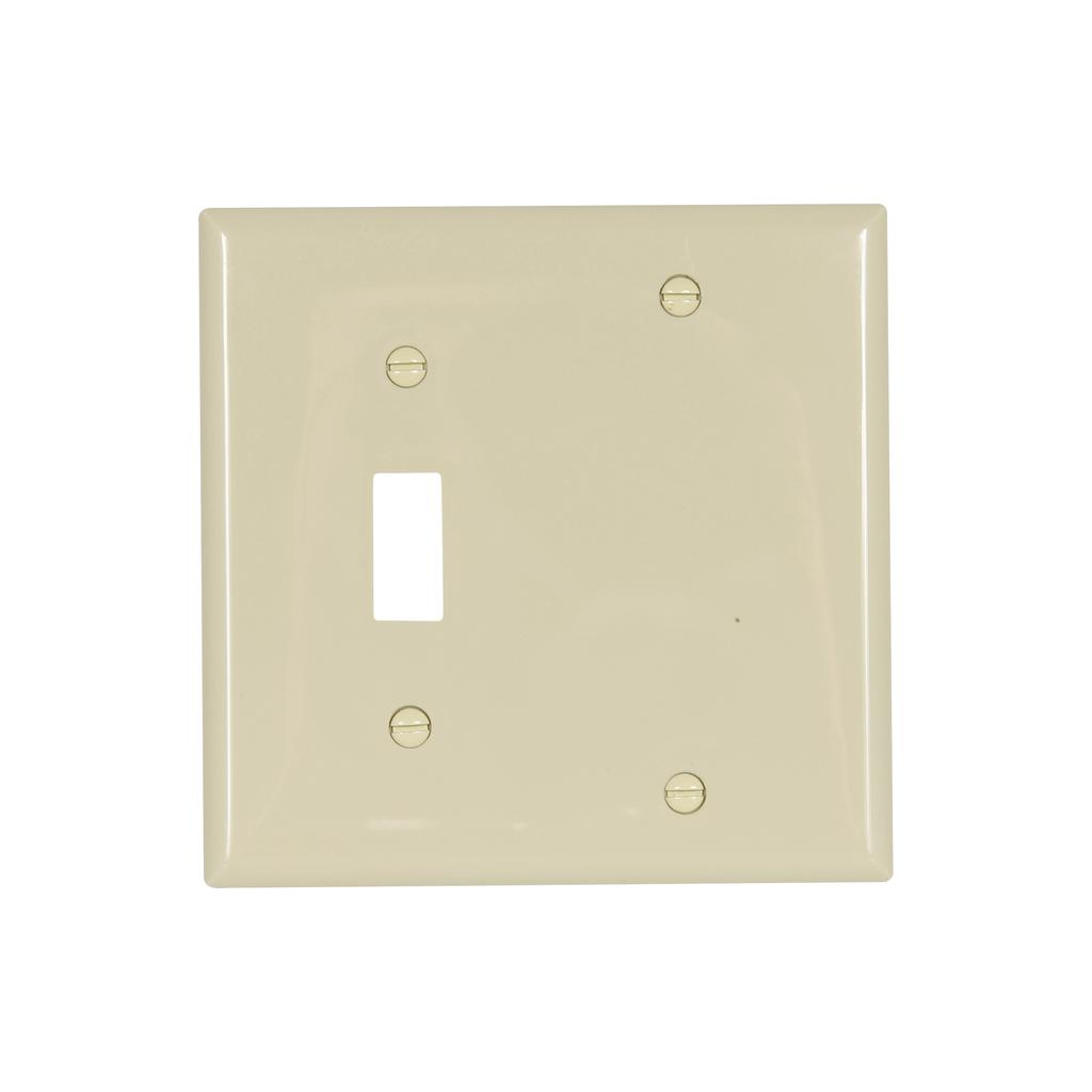 EWD 5171V-BOX Wallplate 2G Toggle/B