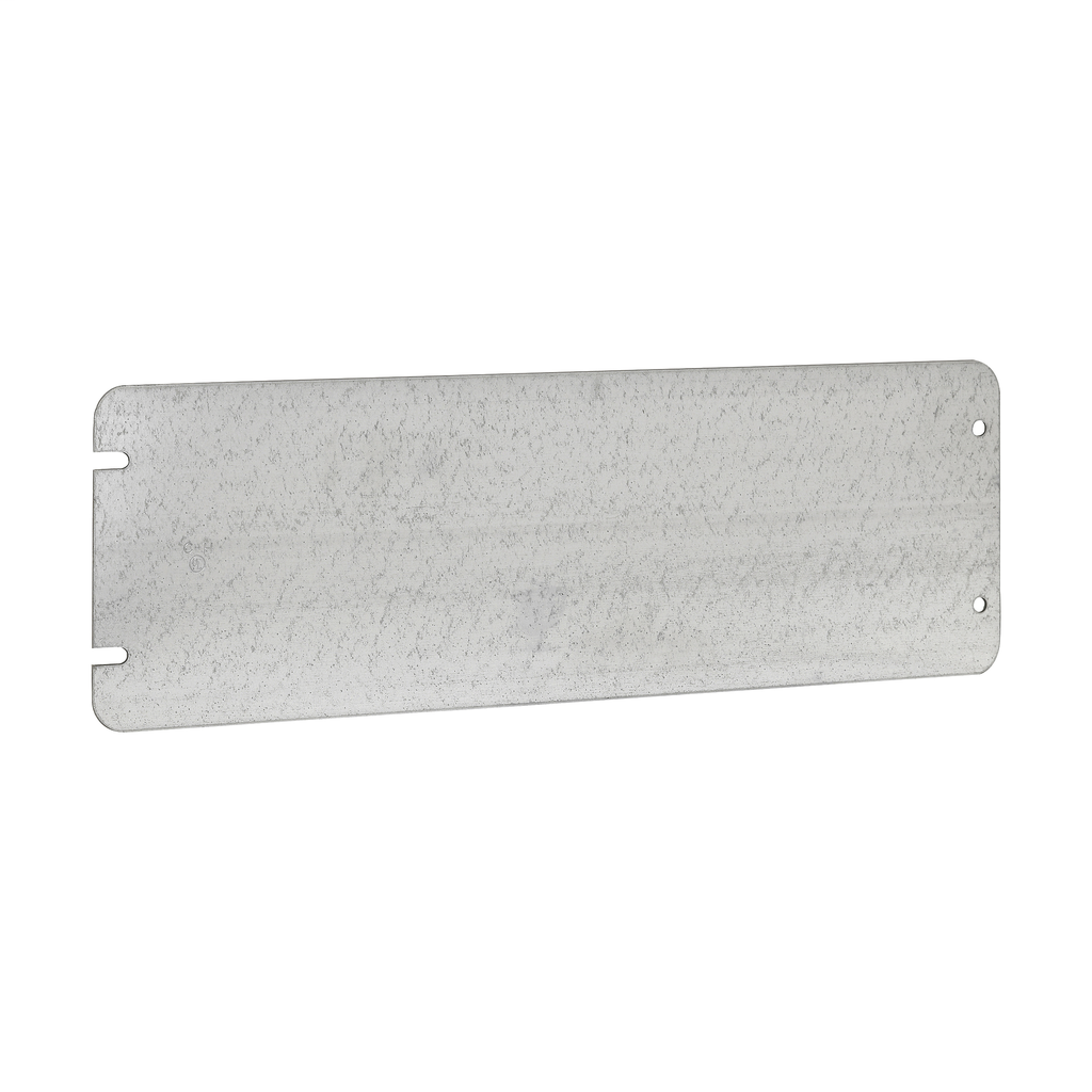 Crouse-Hinds Series TP805 12-7/16 Inch Steel Flat Blank 5-Gang Box Cover