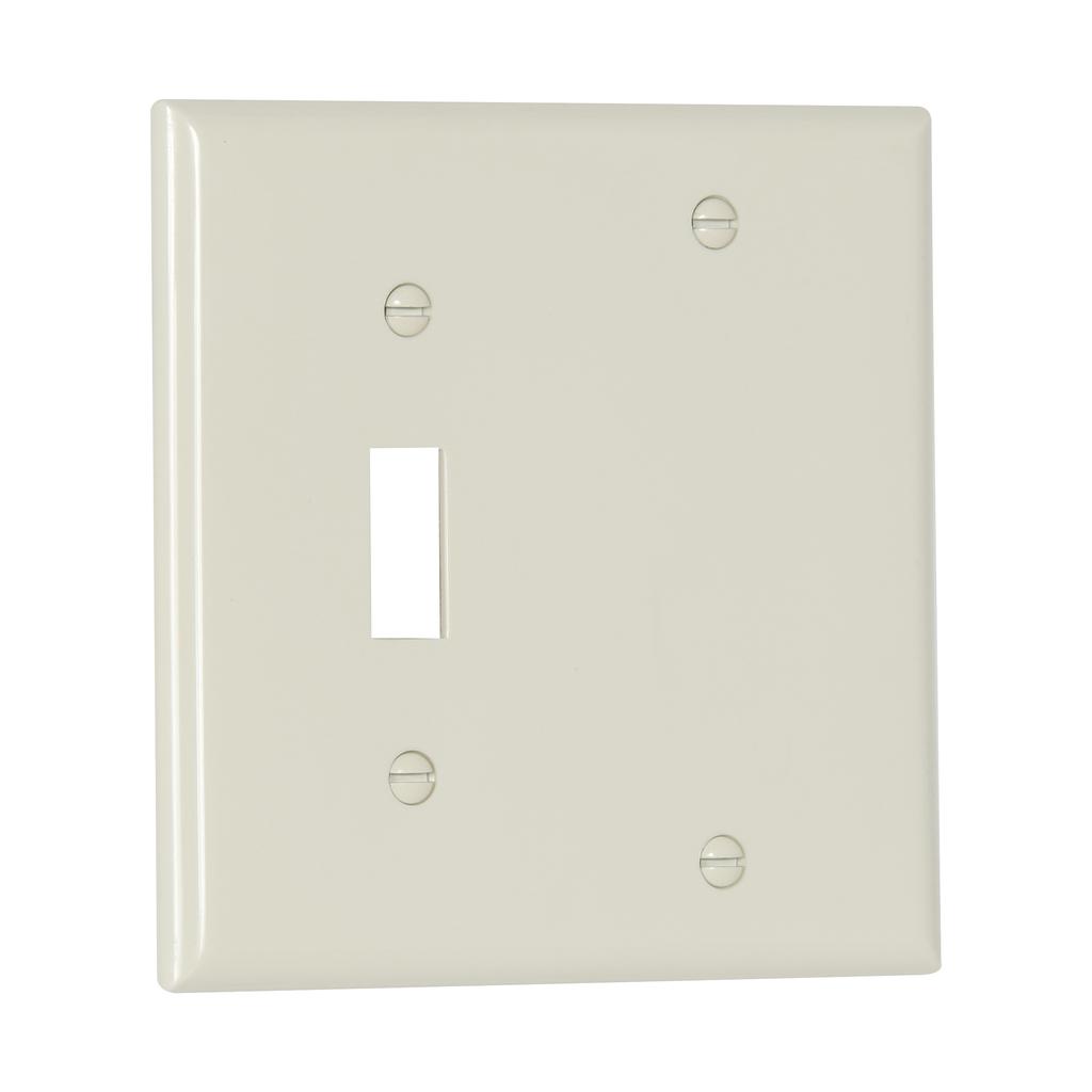 EWD 5171LA Wallplate 2G Toggle/Blan