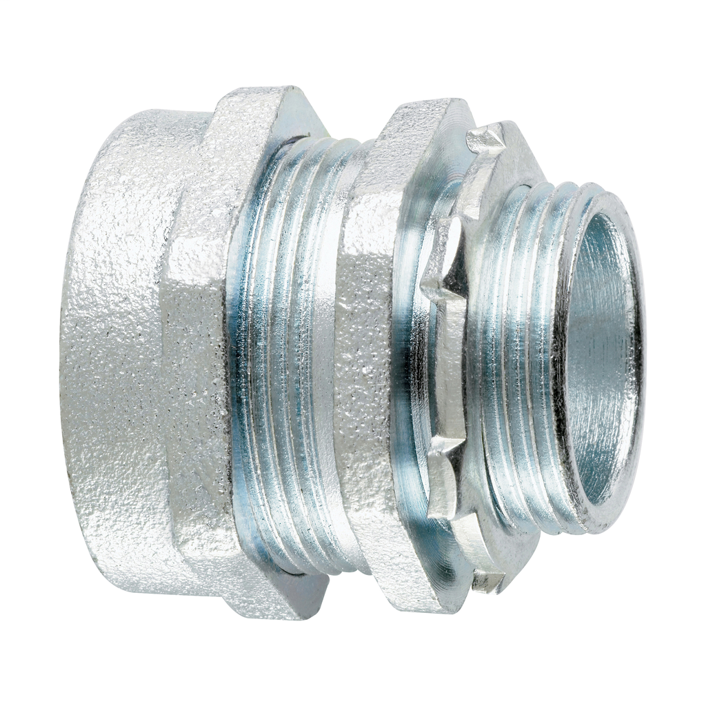 Crouse-Hinds Series CPR17 2-1/2 Inch Malleable Iron Insulated Straight Compression Rigid Conduit Connector