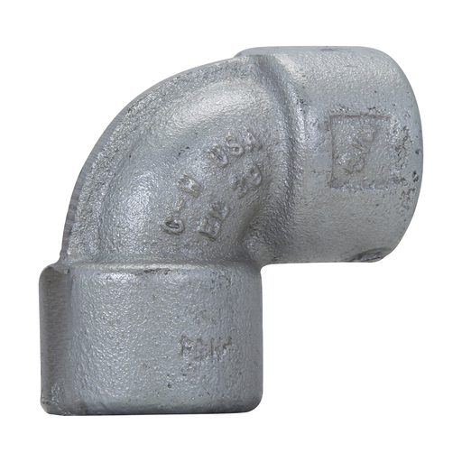 """Crouse-Hinds EL19 1//2/""""  90 Degree Female Explosion Proof Iron Elbow"""