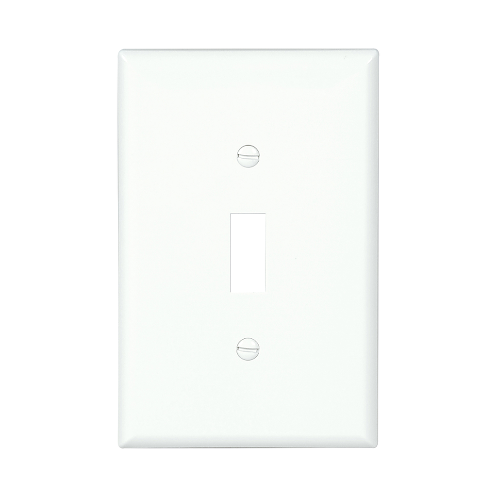 Mid-size Toggle Switch Wallplate (EAT PJ1W 1G NYLON MIDSIZE SWITCH)