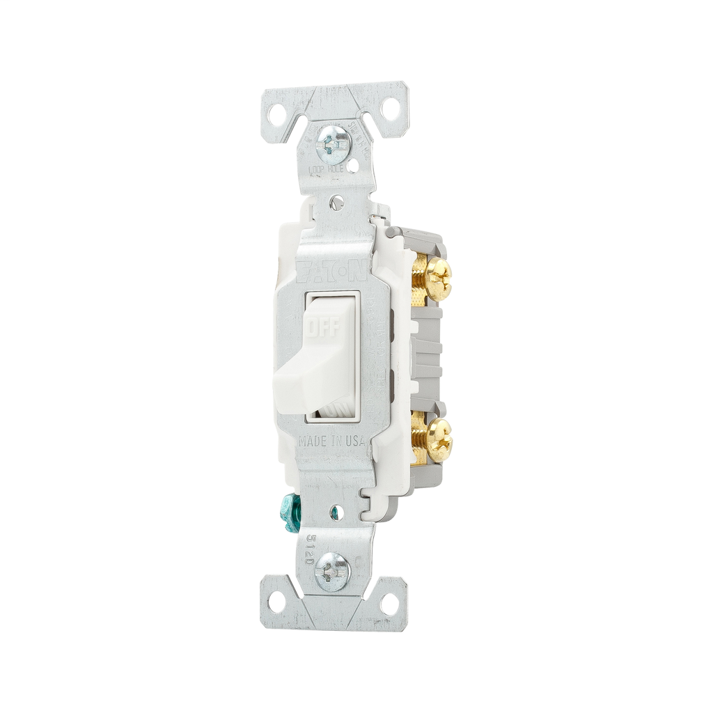 Eaton Wiring Devices CS220W 20 Amp Toggle Switch