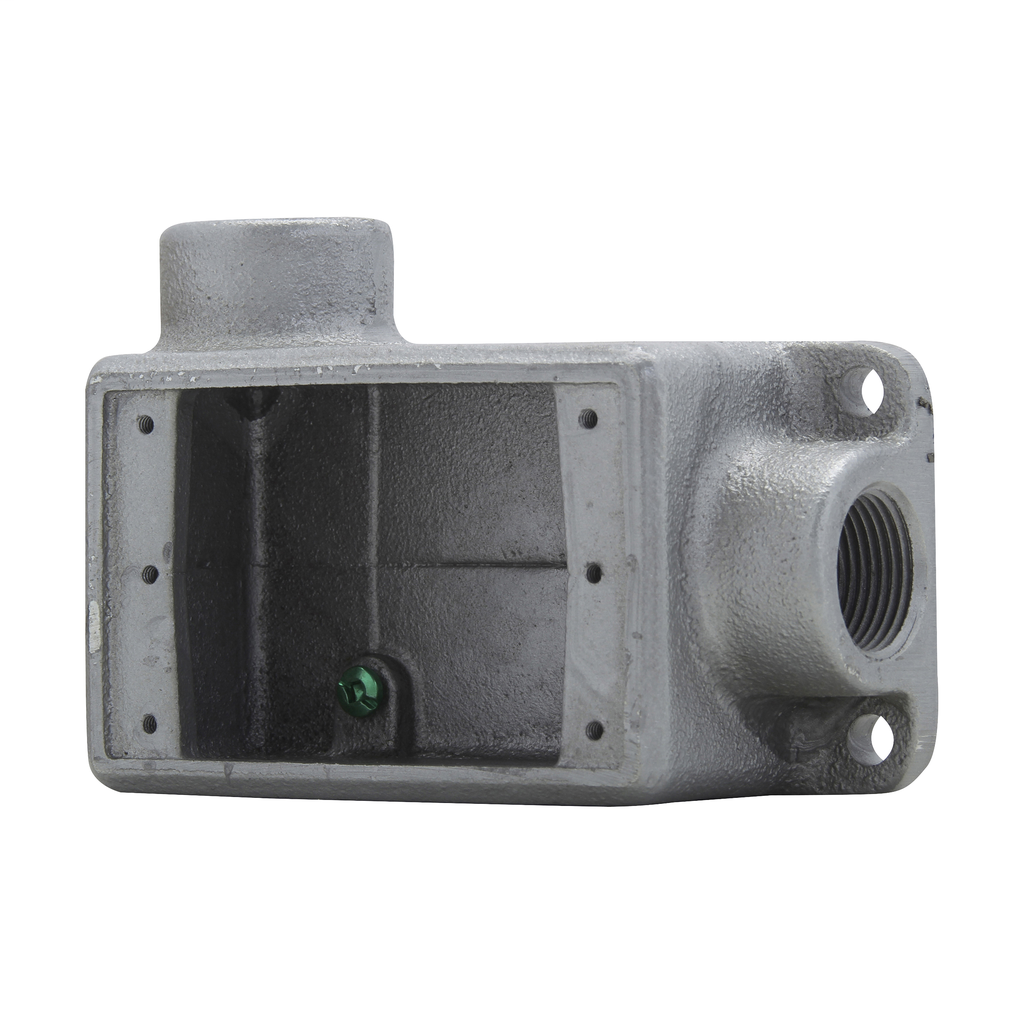 Crouse-Hinds Series FSL2 3/4 Inch 1-Gang Iron Alloy Type FSL Feed-Through Conduit Device Box