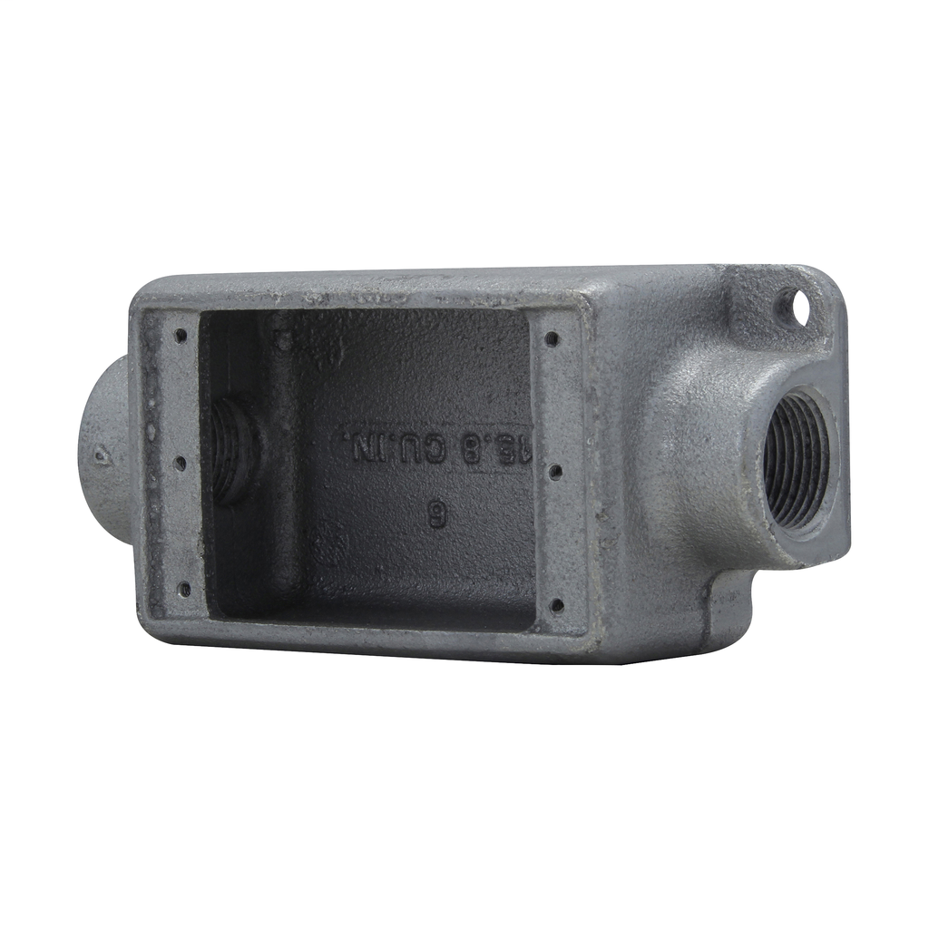 Crouse-Hinds Series FDC2 3/4 Inch 1-Gang Iron Alloy Type FDC Feed-Through Conduit Device Box