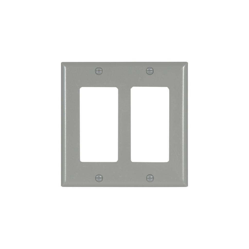 EWD 2152GY-BOX WALLPLATE 2G DECORAT