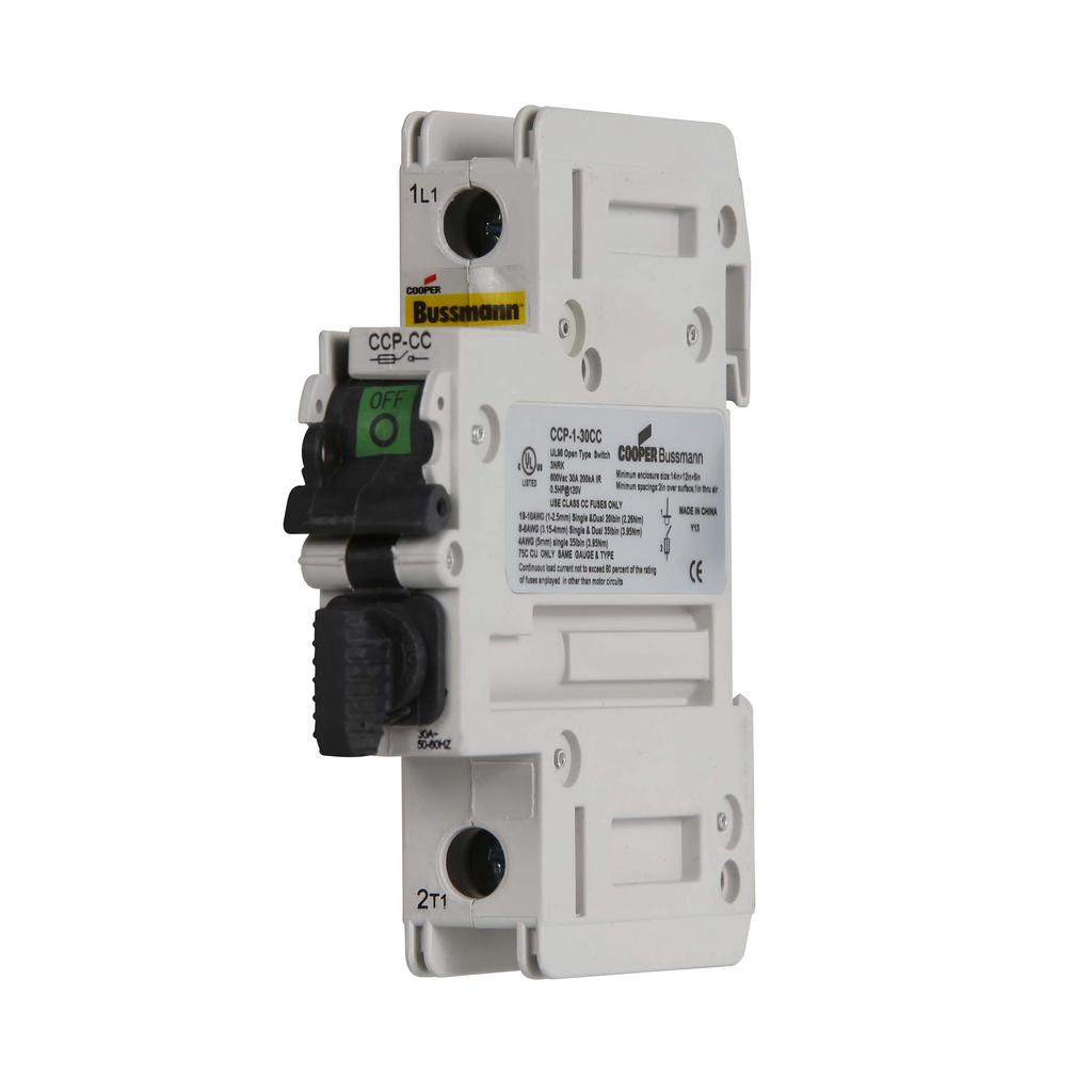 Eaton Bussmann CCP-1-30CC 1-Pole Class CC Compact Circuit Protector
