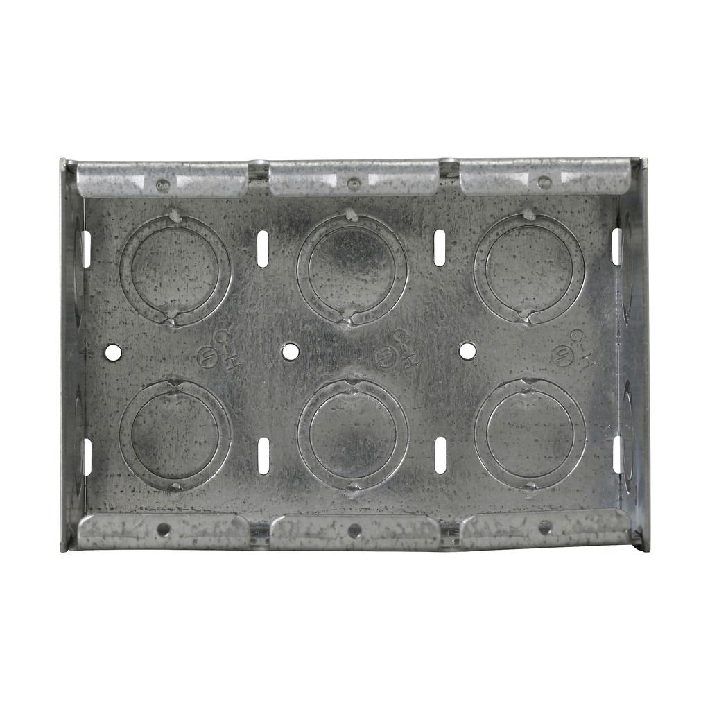 Crouse-Hinds Series TP685 7-3/8 x 2-1/2 x 3-3/4 Inch Steel 4-Gang Masonry Box
