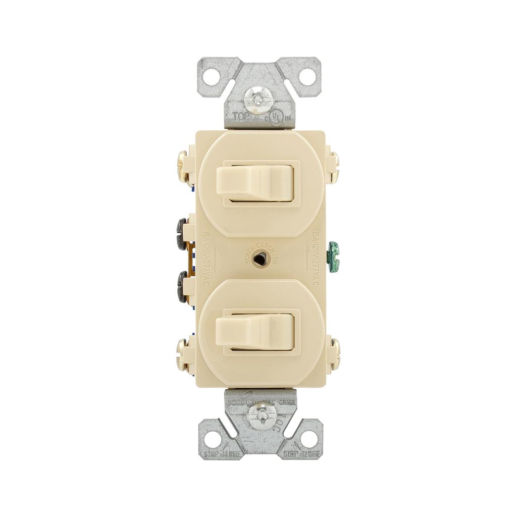 EWD 276V-BOX Switch Duplex Comb 3Wa