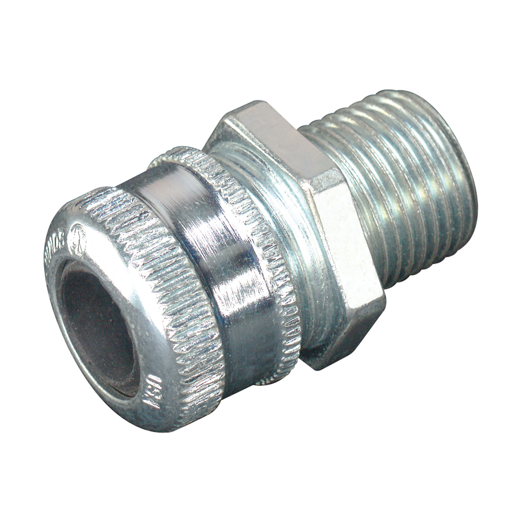 Crouse-Hinds Series CGB194 1/2 Inch Male Threaded Steel Straight Non-Armored Cable Gland
