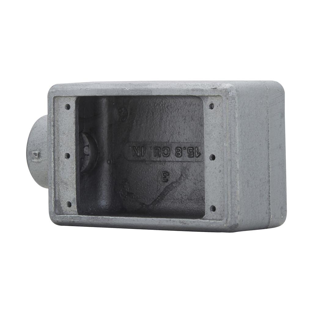 CROUSE-H FS1 1GANG FS BOX W/ 1/2-IN HUB
