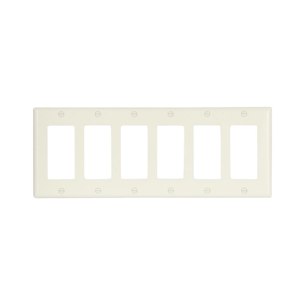 EWD 2166A-BOX Wallplate 6G Decorato