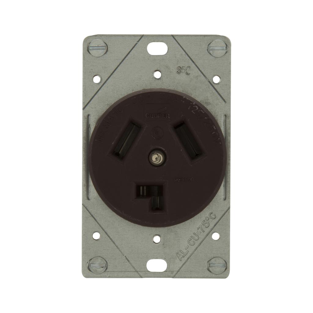 EWD 38B-BOX Recp Sgl Flush 30A 125/