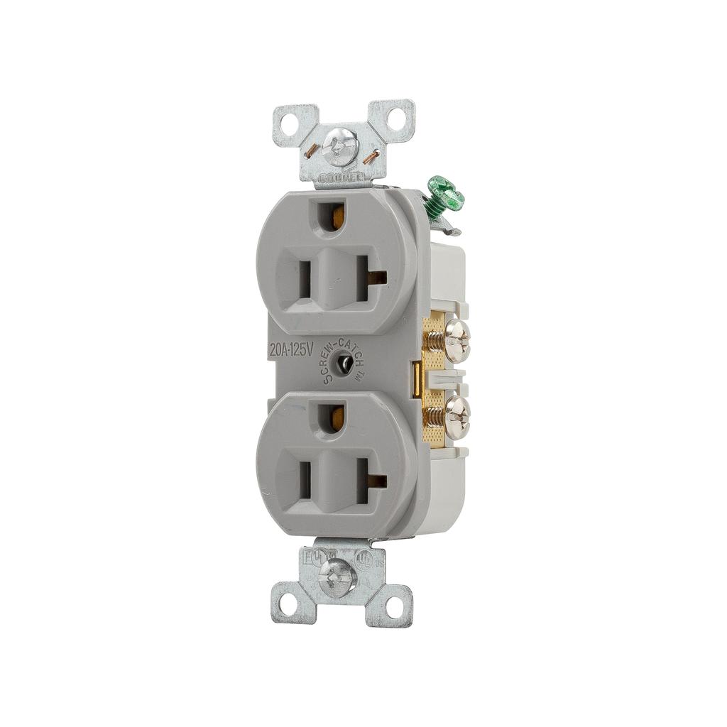Arrow Hart Wiring CR20GY 20 Amp 125 Volt Duplex Receptacle