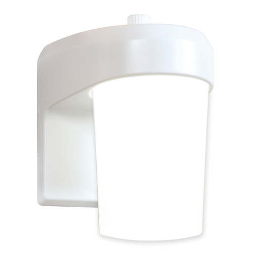 All-Pro FE0650LPCW White LED Entry/ Patio 11 Watt Light Fixture w/ Dusk To Dawn Photo Cell, 120V, 5000K, 86 CRI, 738 Lumens, No Glare Diffused Lens, Resi/ Light Commercial, 50000 Hour (Replaces 75W Incandescent) Wet Location, Security Lighting