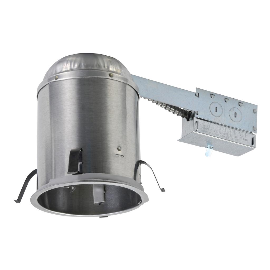 Halo AIR-TITE® H5RICAT Line Voltage Remodel Recessed Lighting Housing, PAR20/PAR30 Halogen Lamp, IC Insulation, 120 VAC, 5-1/2 in Ceiling Opening, Aluminum Housing