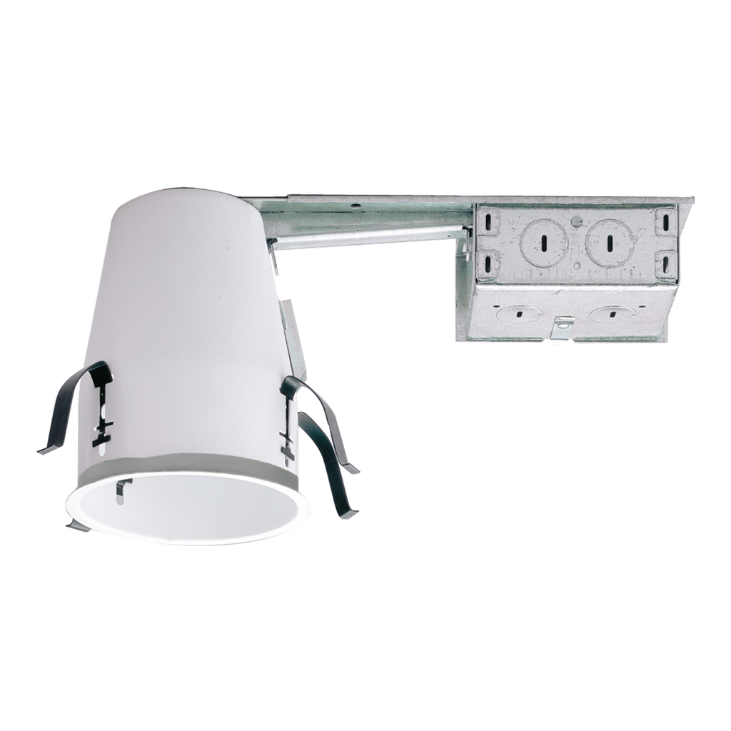 Halo AIR-TITE® H99RTAT Remodel Shallow Small Aperture Recessed Lighting Housing, Incandescent Lamp, Non-IC Insulation, 120 VAC, 4-1/2 in Ceiling Opening, Steel Housing