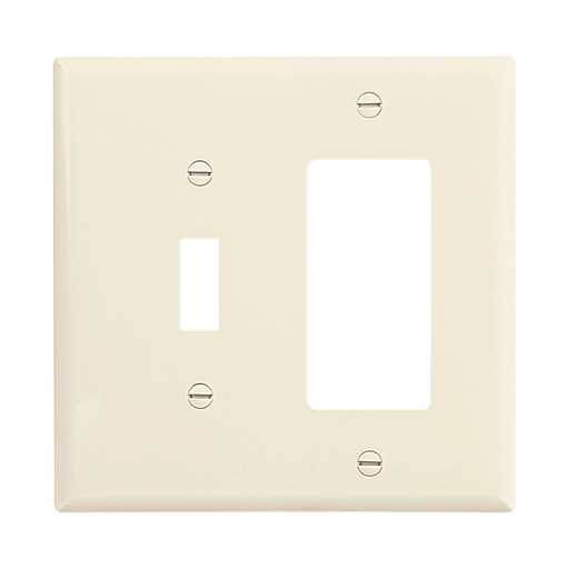 "White Decorator Switch Outlet Wall Plate Cover Oversized 1-Gang 5.5/"" x 3.5/"""