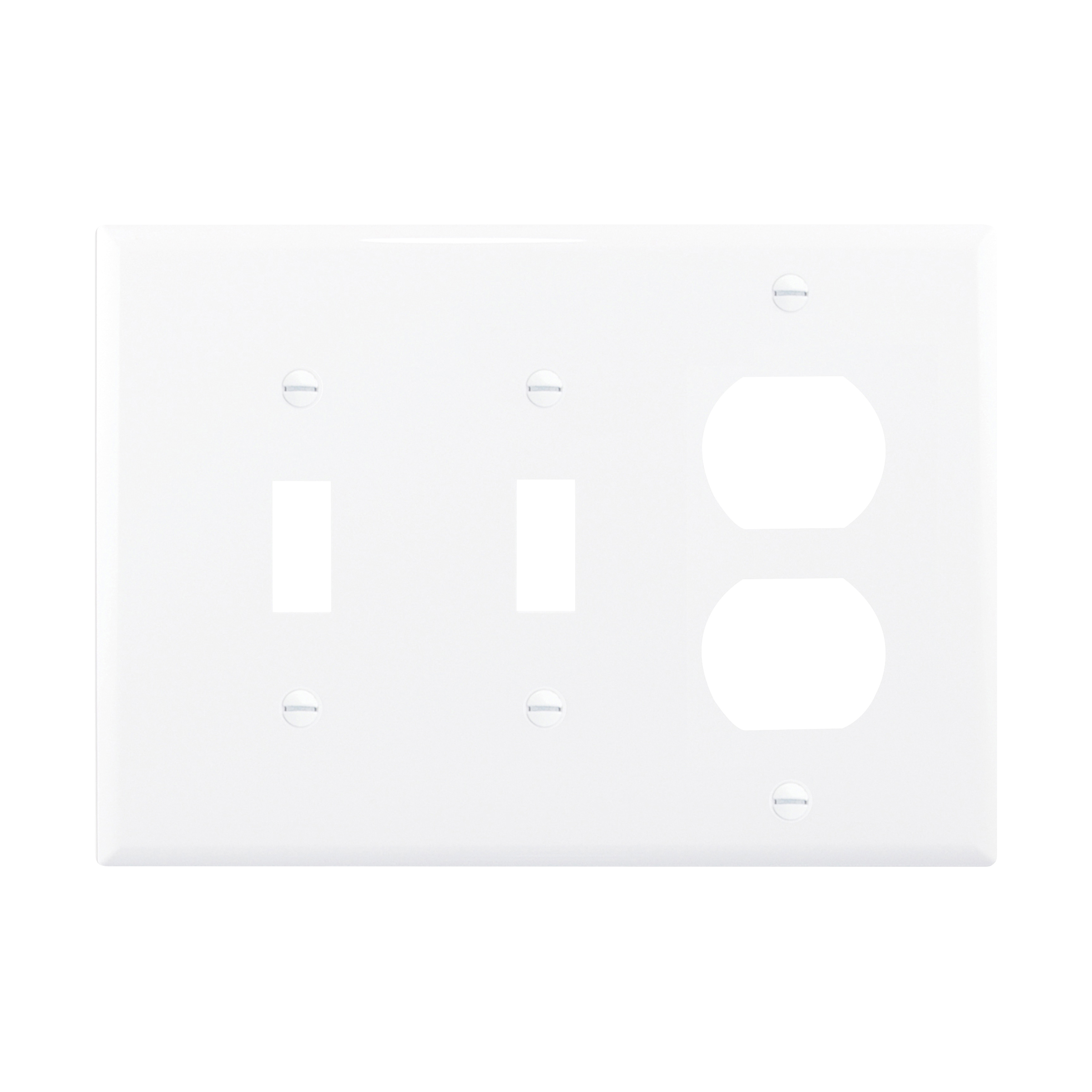 Mid-size Combination Wallplate (EAT PJ28W 3G NYLON MID 2 SWT/1 DUP)