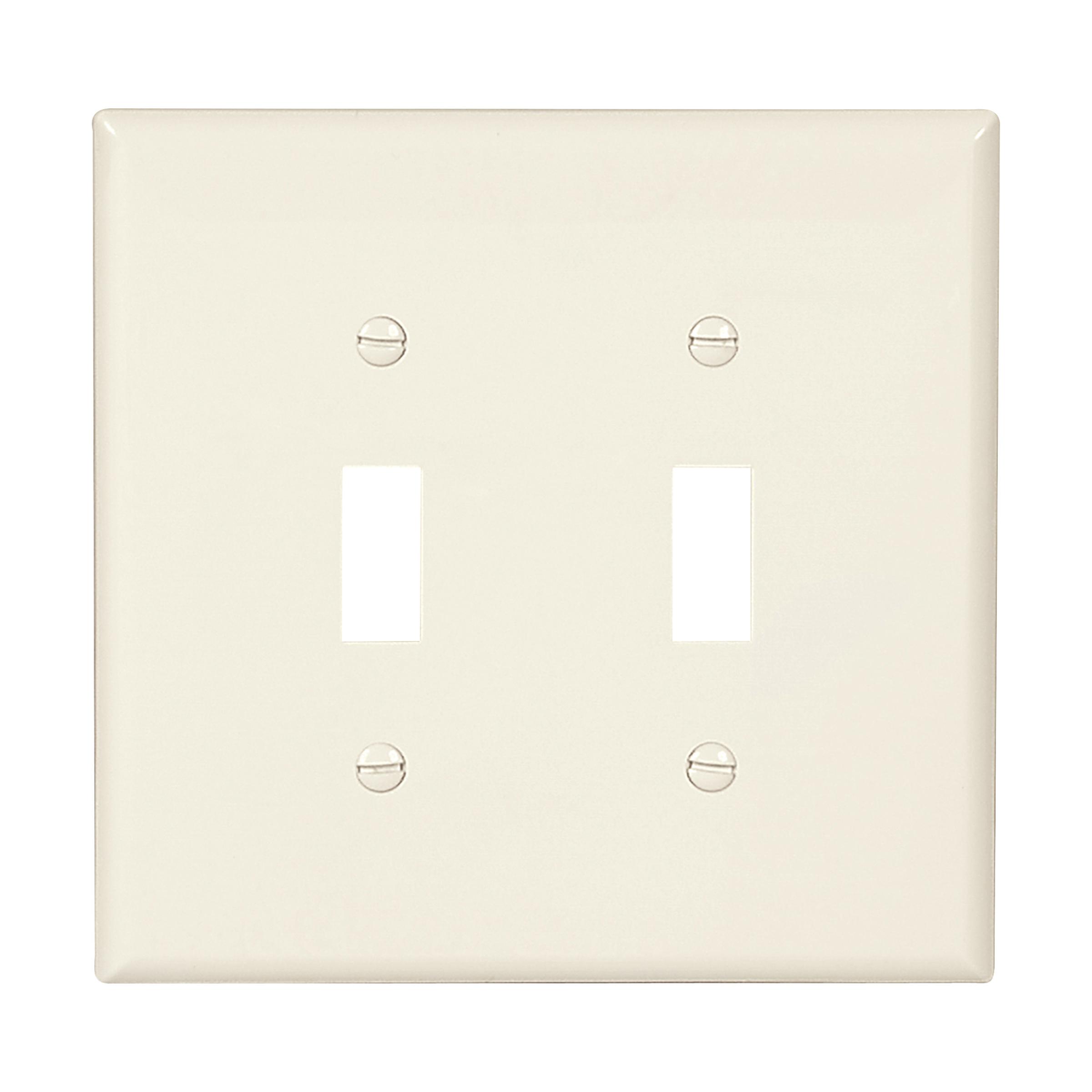 Mid-size Toggle Switch Wallplate (EAT PJ2LA 2G NYLON MIDSIZE SWITCH)