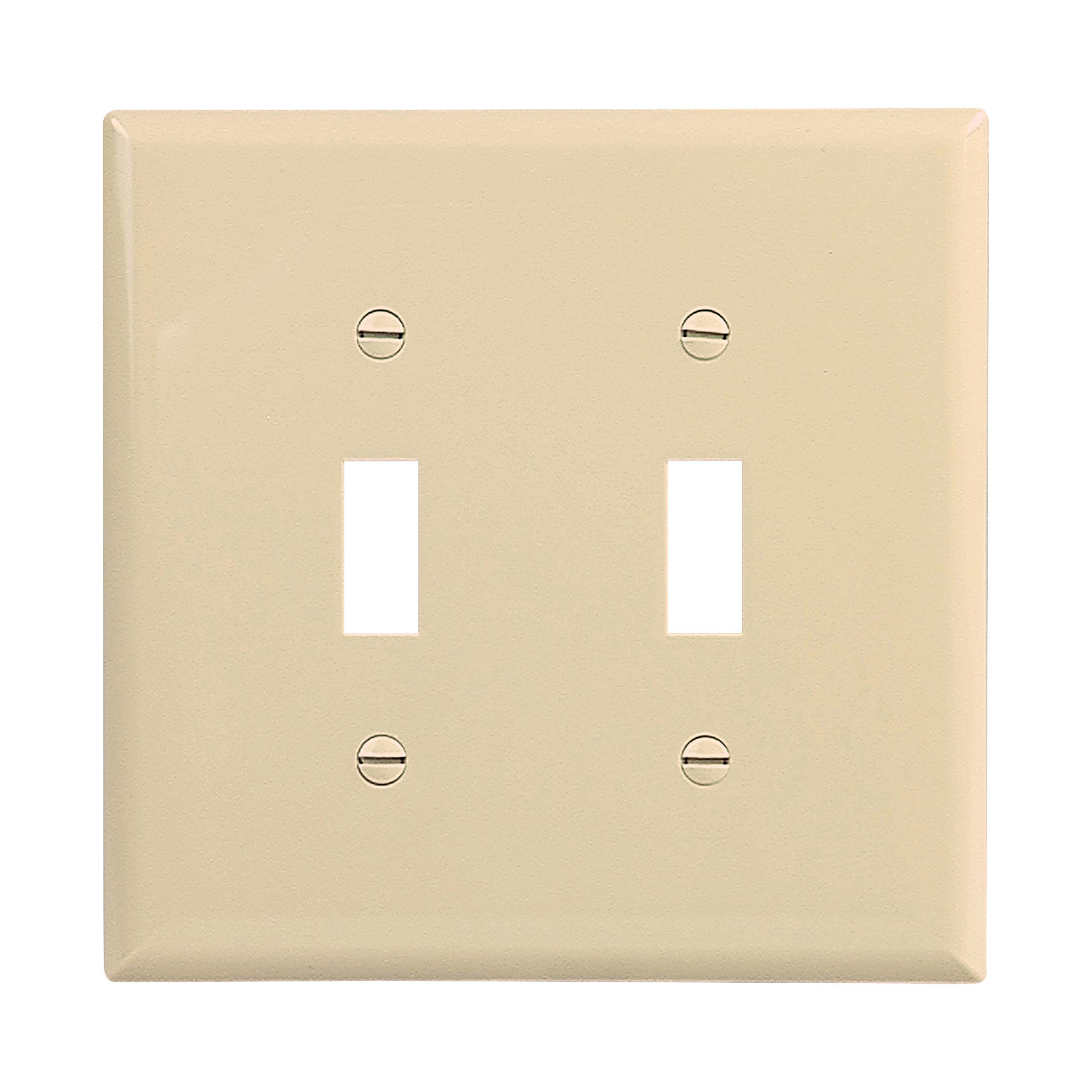 Mid-size Toggle Switch Wallplate (EAT PJ2V 2G NYLON MIDSIZE SWITCH)