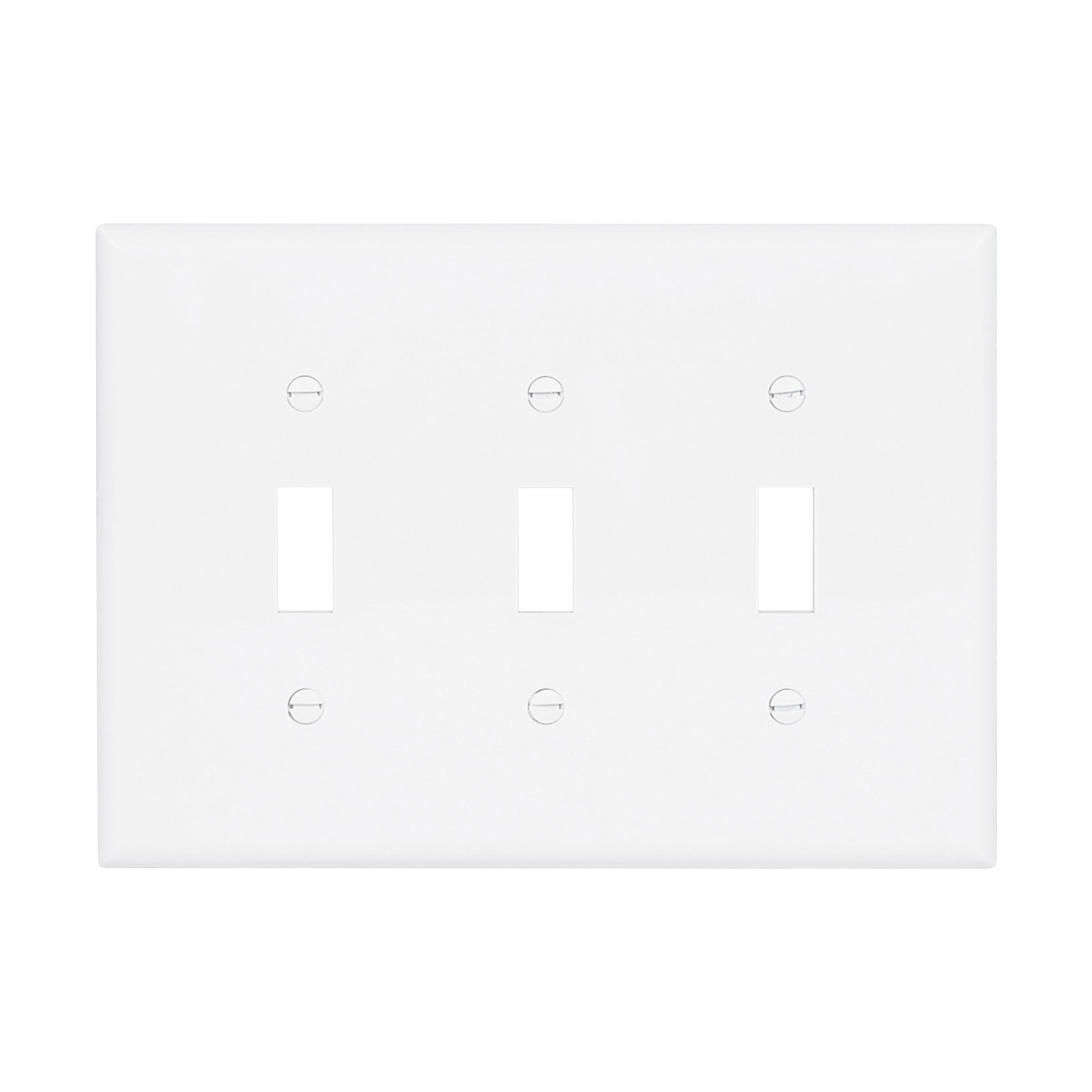 Mid-size Toggle Switch Wallplate (EAT PJ3W 3G NYLON MIDSIZE SWITCH)