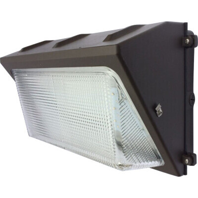 LED Glass Wallpack DLC V4.0 Standard 80W-9800LM 5000K Bronze 0-10V Dimmable 100-277V