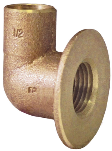 4708 Lead-Free 90° Female Flanged Sink Elbow - 1/2""