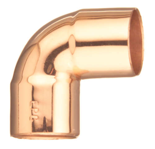 107C 90° Elbow-Close Ruff - 3/4""