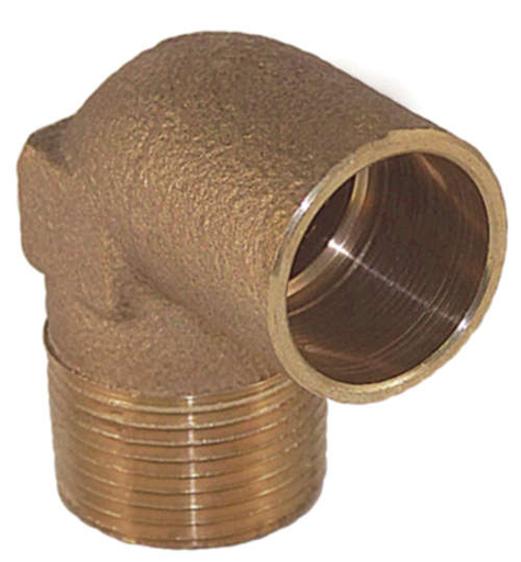 "4707R-4 Leaded 90° Reducing Male Elbow - 1/2"" x 3/4"""