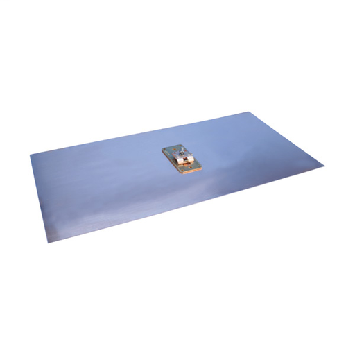CAD LPC753 COPPER GROUND PLATE WITH CABLE ATTACHMENTS, 1 X 12IN X 24IN