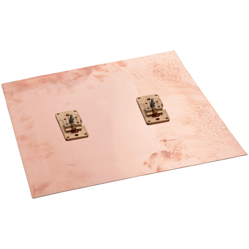 CAD LPC751 COPPER GROUND PLATE WITH CABLE ATTACHMENTS, 2 X 18IN X 18IN