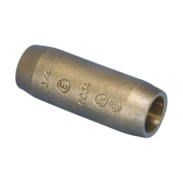 Erico CC34 3/4 x 2-3/4 Inch Silicon Bronze Pointed Ground Rod Compression Coupler