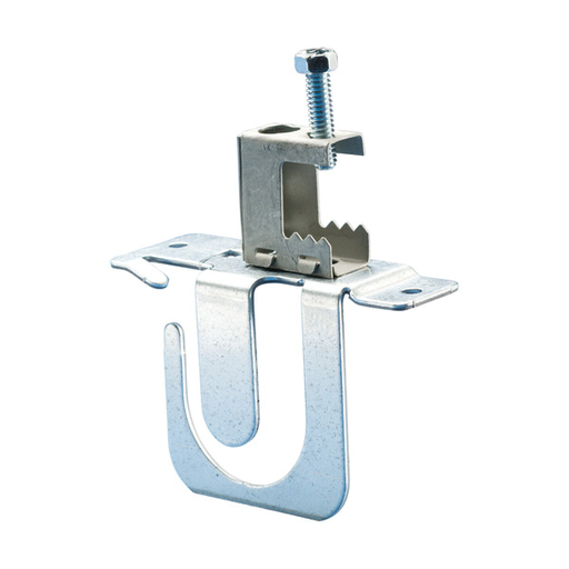 "CAD MCS100BC MC/AC CABLE SUPPORT BRACKET W/ SPRING STEEL BEAM CLAMP, 14-3 TO 8-3 MC/AC, 8 CAPACITY, 1/8""-1/2"" FLANGE"