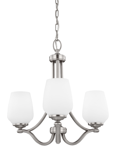 MURF F2963/3SN 3 LIGHT CHANDELIER SATIN NICKEL 3 E 75 WATT