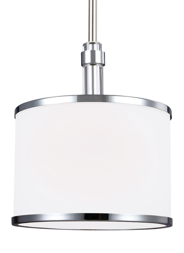 MURF P1417SN/CH 1 LIGHT MINI-PENDANT SATIN NICKEL/ CHROME