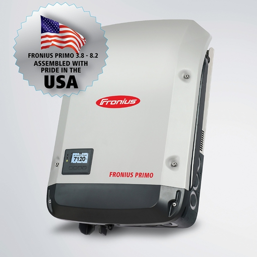 The transformerless, single-phase Fronius Primo 3.8 kW is the ideal solar inverter for residential applications wth a 208/240 grid connection. The SnapINverter has many standard features, making it convenient and