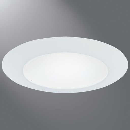 Light fixtures accessories interior lighting fixtures 6 inch white shower light trim albalite glass lens wet location recessed downlighting aloadofball Choice Image